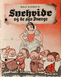9g206 SNOW WHITE & THE SEVEN DWARFS Danish program R50s Disney cartoon classic, different images!