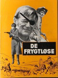 9g212 TRUE GRIT Danish program '69 John Wayne as Rooster Cogburn, Kim Darby, Glen Campbell