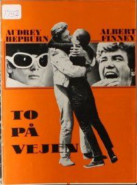 9g214 TWO FOR THE ROAD Danish program '67 different images of Audrey Hepburn & Albert Finney!