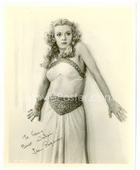 9k070 JEAN ROGERS signed 8x10 REPRO still '80s scared close up as Dale Arden from Flash Gordon!