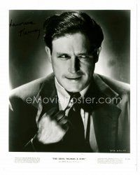 9k079 LAWRENCE TIERNEY signed 8x10 REPRO still '80s creepy portrait from The Devil Thumbs a Ride!