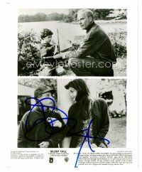 9k091 RICHARD DREYFUSS signed 8x10 REPRO still '00s pictured twice in split image from Silent Fall!