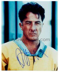 9k065 DUSTIN HOFFMAN signed color 8x10 REPRO still '00s head & shoulders portrait from Outbreak!