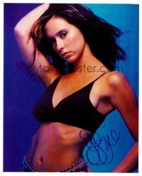 9k071 JENNIFER LOVE HEWITT signed color 8x10 REPRO still 00s sexy close portrait showing some skin!