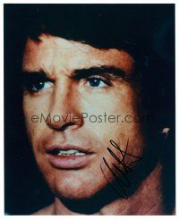 9k102 WARREN BEATTY signed color 8x10 REPRO still '02 young super c/u from Heaven Can Wait!