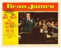 9r041 BEAU JAMES signed LC #8 '57 by Bob Hope, great image as New York City Mayor Jimmy Walker!