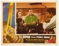9r042 BRAIN FROM PLANET AROUS signed LC #7 '57 by John Agar, the most feared man in the universe!