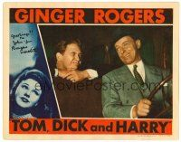 9r069 TOM, DICK & HARRY signed LC '41 by Burgess Meredith, who's winking at George Murphy in car!
