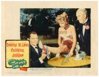 9r045 CAN-CAN signed LC #6 '60 by Shirley Maclaine, who's with Frank Sinatra & Maurice Chevalier!