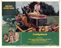 9r044 CADDYSHACK signed LC #4 '80 by Chevy Chase, who's on tractor with Bill Murray on golf course!