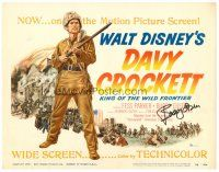 9r039 DAVY CROCKETT, KING OF THE WILD FRONTIER signed TC '55 by Buddy Ebsen, Disney classic!