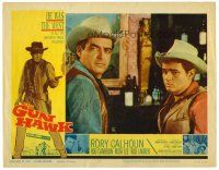 9r051 GUN HAWK signed LC #3 '63 by Rory Calhoun, who's standing at a cowboy bar!