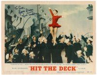 9r053 HIT THE DECK signed LC #7 '55 by Russ Tamblyn, who helpfully drew an arrow to where he is!