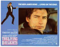9r056 LIVING DAYLIGHTS signed LC '87 by Timothy Dalton, who's in extreme close up as James Bond!