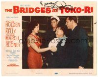 9r043 BRIDGES AT TOKO-RI signed LC #1 '54 by Mickey Rooney, who's with Holden, Holliman & Awaji!