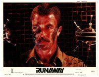9r059 RUNAWAY signed LC #4 '84 by Tom Selleck, who's close up with grease on his face!