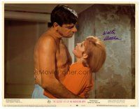 9r063 SECRET LIFE OF AN AMERICAN WIFE signed LC #5 '68 by Walter Matthau, who's w/ Angie Dickinson!