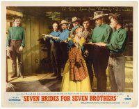 9r064 SEVEN BRIDES FOR SEVEN BROTHERS signed LC #5 '54 by Russ Tamblyn, who's with Jane Powell!