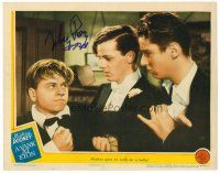 9r071 YANK AT ETON signed LC '42 by Mickey Rooney, who's with Freddie Bartholomew and a bully!