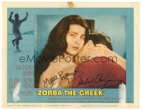 9r072 ZORBA THE GREEK signed LC #6 '65 by BOTH Irene Papas AND director Michael Cacoyannis!