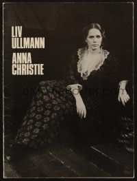 9r004 ANNA CHRISTIE signed program '77 by Liv Ullmann, Mary McCarty, Robert Donley AND John Lithgow