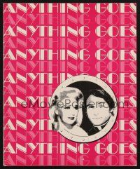 9r005 ANYTHING GOES signed program '80 by BOTH Ginger Rogers AND Sid Caesar!