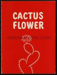 9r006 CACTUS FLOWER signed program '65 by BOTH Lauren Bacall AND Barry Nelson!