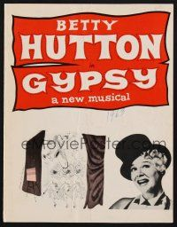 9r008 GYPSY signed program '63 by BOTH Betty Hutton AND Vincent Beck!