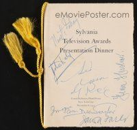 9r020 SYLVANIA TELEVISION AWARDS PRESENTATION signed program '51 by seven different people!