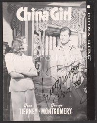 9r075 GEORGE MONTGOMERY signed TV pressbook R60s from a China Gril re-release!