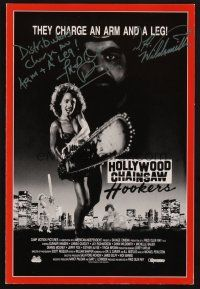 9r076 HOLLYWOOD CHAINSAW HOOKERS signed pressbook '88 by BOTH Linnea Quigley AND Dawn Wildsmith!