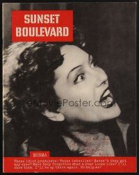 9r002 GLORIA SWANSON signed program '50 filled with great images from Sunset Boulevard!