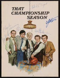 9r021 THAT CHAMPIONSHIP SEASON signed program '72 by Durning,Dysart, McGinn,Sorvino, McGuire, Antoon