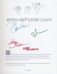 9w005 ART OF THE HUNCHBACK OF NOTRE DAME signed limited edition book '96 by four of the creators!