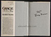 9w012 GEORGE BURNS signed hardcover book '88 Gracie: A Love Story!