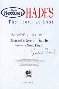 9w006 HERCULES HADES THE TRUTH AT LAST signed limited edition book '97 by illustrator Gerald Scarfe!