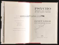 9w014 JANET LEIGH signed hardcover book '95 Psycho: Behind the Scenes of the Classic Thriller!