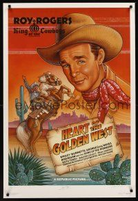 9w077 HEART OF THE GOLDEN WEST signed artist proof '92 by BOTH Roy Rogers AND artist Dave LaFleur!