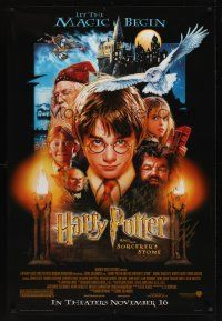 9w059 HARRY POTTER & THE PHILOSOPHER'S STONE advance signed 1sh '01 by director Chris Columbus!