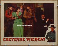 9w071 CHEYENNE WILDCAT signed LC '44 by Peggy Stewart, who's been captured by bad guys!