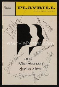 9w027 AND MISS REARDON DRINKS A LITTLE signed playbill '71 by Julie Harris, Estelle Parsons + 6!