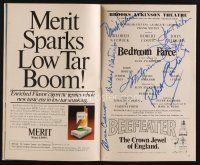 9w030 BEDROOM FARCE signed playbill '79 by John Lithgow, Mildred Natwick, Robert Coote & 4 others!