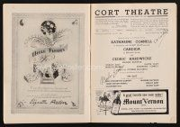 9w032 CANDIDA signed playbill '46 by BOTH Marlon Brando AND Katharine Cornell!