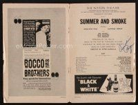9w034 GERALDINE PAGE signed playbill '61 when she appeared on stage in Summer & Smoke!