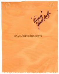 9w073 JANET LEIGH signed shower curtain piece '90s you can frame it with a photograph!