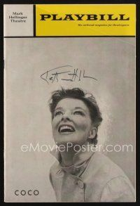 9w037 KATHARINE HEPBURN signed playbill '70 when she appeared in the stage production of Coco!