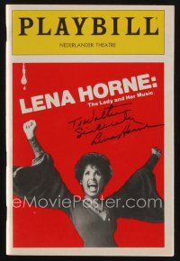 9w039 LENA HORNE signed playbill '82 when she appeared on stage in The Lady and Her Music!