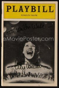 9w040 LILY TOMLIN signed playbill '85 The Search for Signs of Intelligent Life in the Universe!