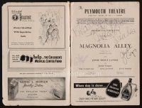 9w041 MAGNOLIA ALLEY signed playbill '49 by Jessie Royce Landis, Jackie Cooper & Julie Harris!