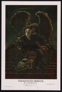 9w075 MARK WHEATLEY signed & numbered art print '02 Frankenstein Mobster on his throne, #34/500!
